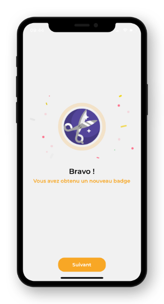 Badge application mon coiffeur s'engage